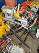 Ridgid 300 compact 110v pipe threading machine c/w foot pedal, threading head & trolley