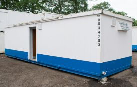 32 foot x 10 foot anti vandal office / toilet block comprising office in one half and ladies and