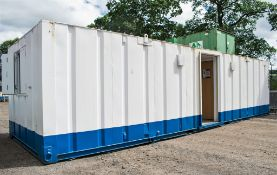 32 ft x 10 ft steel anti vandal toilet/changing room site unit Comprising of: Ladies & gents toilet,