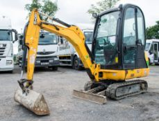 JCB 8016 1.5 tonne rubber tracked mini excavator Year: 2015 S/N: 2071764 Recorded Hours: 944