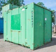 10 ft x 8 ft steel store site unit c/w keys A588427