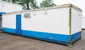 32 foot x 10 foot anti vandal canteen / toilet shower block comprising canteen with sink unit in one