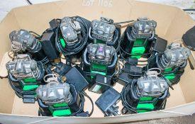 9 - Altair gas detectors each c/w charging dock