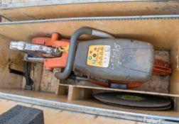 Husqvarna K1260 petrol driven cut off saw c/w carry box A649512