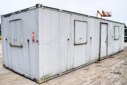 32 ft x 10 ft steel anti vandal office site unit c/w keys PF1480
