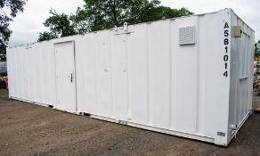 32 ft x 10 ft steel anti vandal toilet/canteen site unit Comprising of: Toilet, shower, lobby &