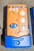 Crowcon gas detector c/w charging dock A702915 ** No lead **