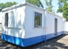 32 ft x 10 ft jack leg steel anti vandal site unit Comprising office and toilets NH77000155 *Door