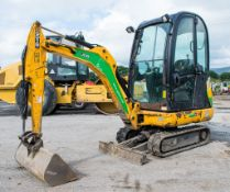 JCB 8016 1.5 tonne rubber tracked mini excavator Year: 2014 S/N: 2071548 Recorded Hours: 1604 blade,