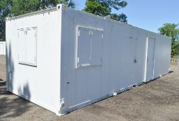 32 ft x 10 ft steel anti vandal site unit Comprising office and kitchen c/w keys in office BBA1703