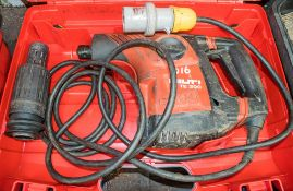 Hilti TE300 110v SDS rotary hammer drill c/w carry case ** Parts dismantled **