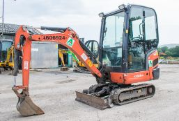 Kubota KX016-4 1.5 tonne rubber tracked mini excavator Year: S/N: 56667 Recorded Hours: 1544
