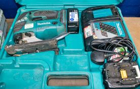 Makita 18v cordless jigsaw c/w 2 batteries, charger & carry case A638306