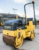 Bomag BW80 ADH-2 double drum ride on roller S/N: 426894 Recorded Hours: 643 974