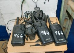 3 - Kenwood 2-way radios c/w 2 - chargers A728354/A728352/A728351
