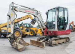 Takeuchi TB228 2.8 tonne rubber tracked mini excavator Year: 2012 S/N: 2801768 Recorded Hours: Not