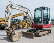 Takeuchi TB228 2.8 tonne rubber tracked mini excavator Year: 2014 S/N: 2803553 Recorded Hours: Not