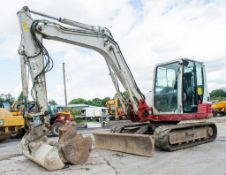 Takeuchi TB285 8.5 tonne rubber tracked excavator Year: 2012 S/N: 185000238 Recorded Hours: 7593