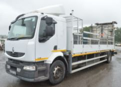 Renault Midlum 240 DXI 4 x 2 crash cushion drop side lorry Reg No: MX58 OJN Rec Kms: 340,145 MOT