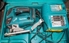 Makita 18v cordless jigsaw c/w charger & carry case A649086 ** No battery **