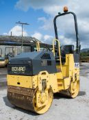 Bomag BW80 ADH-2 double drum ride on roller Year: 2007 S/N: 447058 Recorded Hours: 847 1078