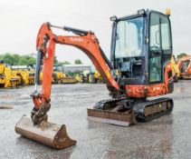 Kubota KX16-4 1.5 tonne rubber tracked excavator Year: 2013 S/N: 57032 Recorded Hours: 2245 blade,