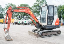 Kubota KX61-3 2.6 tonne rubber tracked mini excavator Year: 2012 S/N: 79234 Recorded Hours: 3457