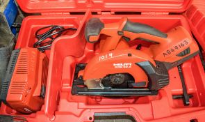 Hilti SCM 22-A 22v 160mm cordless circular saw c/w charger, battery & carry case A849163