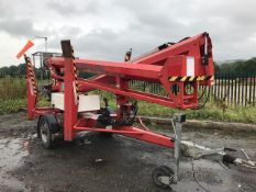 Nifty 170 HDET diesel/electric fast tow boom lift