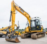 JCB JS130 LC 13 tonne steel tracked excavator Year: 2014 S/N: 2134411 Recorded Hours: 3374 piped,