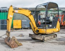JCB 8015 1.5 tonne rubber tracked mini excavator Year: 2004 S/N: 1021875 Recorded Hours: 3217