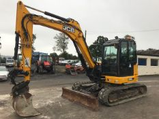 JCB 86C-1 9 tonne rubber tracked midi excavator Year: 2014 S/N: 02249525 Recorded Hours: 5343