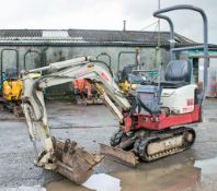 Takeuchi TB108 0.8 tonne rubber tracked micro excavator Year: 2003 S/N: 10810661 Recorded Hours:
