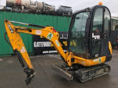 JCB 8016 1.5 tonne rubber tracked mini excavator Year: 2013 S/N: 2071351 Recorded Hours: 1480 c/w
