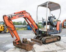 Kubota KX36-2 1.5 tonne rubber tracked mini excavator Year: 2004 S/N: Z059058 Recorded Hours: 3367