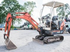 Kubota KX36-3 1.5 tonne rubber tracked excavator Year: 2008 S/N: 2078047 Recorded Hours: 5335