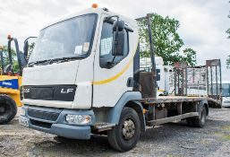 DAF LF45.180 4 x 2 7.5 tonne beaver tail plant lorry Registration Number: LJ54 AHD Date of