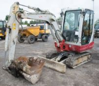 Takeuchi TB 228 2.8 tonne rubber tracked mini excavator Year: 2014 S/N: 122803281 Recorded Hours: