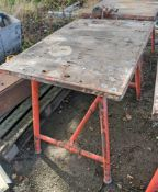 Collapsible steel site bench