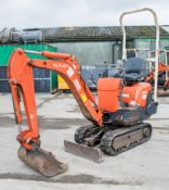 Kubota K008-3 0.8 tonne rubber tracked micro excavator Year: 2005 S/N: 14599 Recorded Hours: 2528