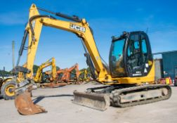 JCB 8085 ZTS 8.5 tonne rubber tracked excavator Year: 2013 S/N: 1073047 Recorded Hours: 95075 (Clock