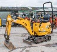 JCB 8008 0.8 tonne rubber tracked micro excavator Year: 2005 S/N: 1148543 Recorded Hours: 2981 blade