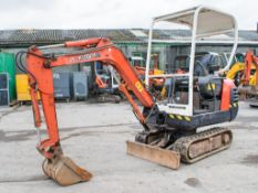 Kubota KX36-2 1.5 tonne rubber tracked excavator Year: 2003 S/N: 7058558 Recorded Hours: 3929