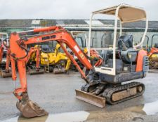 Kubota KX36-2 1.5 tonne rubber tracked excavator Year: 2004 S/N: 7058884 Recorded Hours: 2628