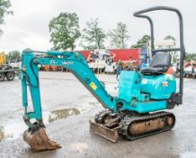 Kubota K008 0.8 tonne rubber tracked excavator Year: S/N: Recorded Hours: 3423 blade, expandable