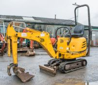 JCB 8008 0.8 tonne rubber tracked micro excavator Year: 2006 S/N: 1148840 Recorded Hours: 747 blade,