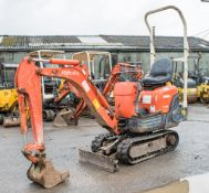 Kubota K008-3 0.8 tonne rubber tracked micro excavator Year: 2008 S/N: 18177 Recorded Hours: 2471