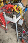 ROTHENBERGER SUPERTRONIC 3SE 110 volt pipe threader Complete with foot pedal and threading head