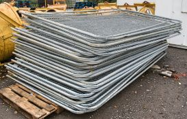 Pallet of Heras fencing as photographed