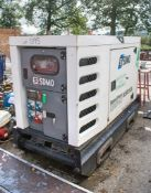 SDMO R33 33 kva diesel driven generator Year: 2012 S/N: Recorded Hours: 22,453 A583128